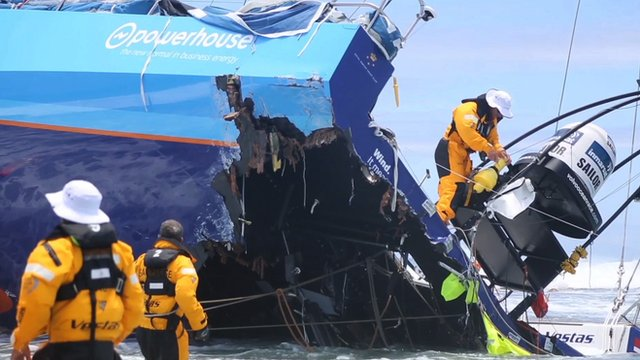 Volvo Ocean Race-Team Team Vestas Wind is Rescued in the Indian Ocean