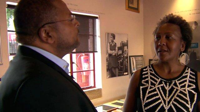 Milton Nkosi and Ndileka Mandela
