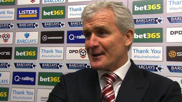 Stoke City manager Mark Hughes