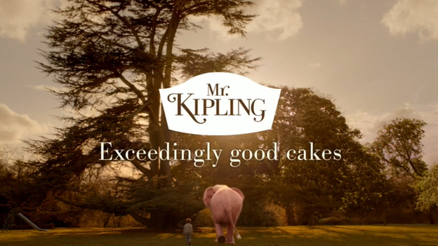 Shot from a Mr Kipling TV advert