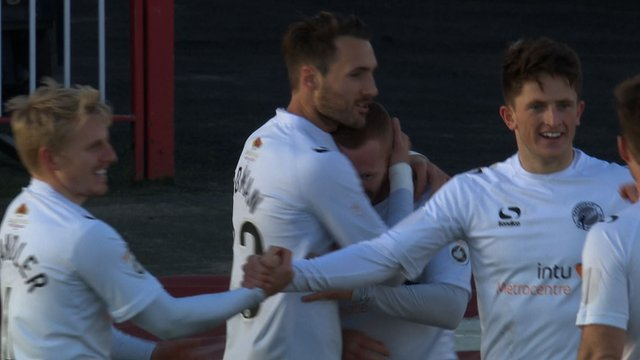 Celebrations after Gateshead take the lead