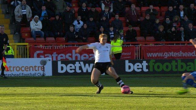 Danny Wrights scores winner