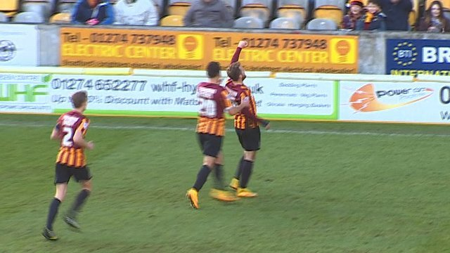 Bradford take the lead against Dartford