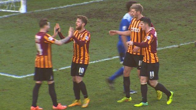Bradford 2 (Stead 31') v Dartford 0