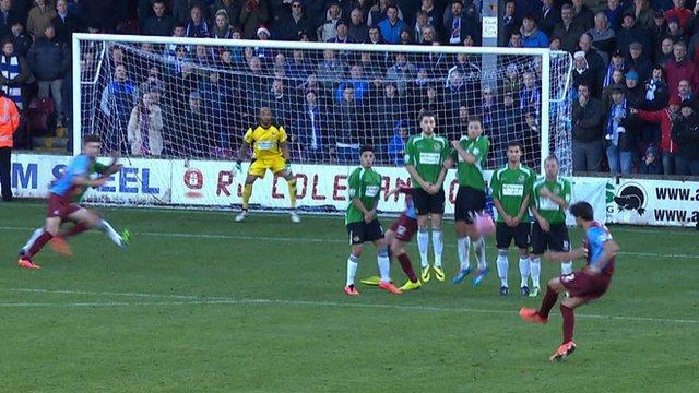 Scunthorpe 1 (Madden 35') v Worcester 0