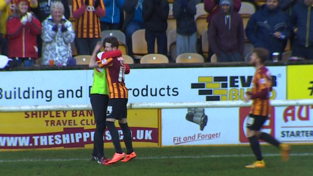 Bradford go 4-0 up against Dartford