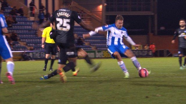 George Moncur scores for Peterborough