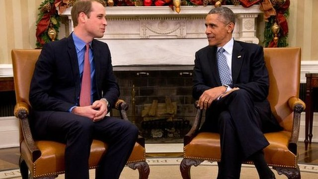 Prince William President Obama in the Oval Office