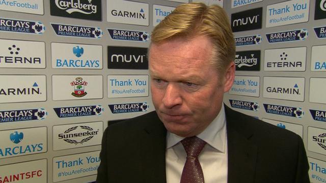Southampton 1-2 Man United: Ronald Koeman rues missed chances