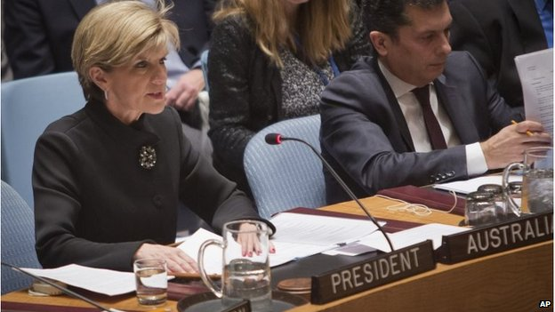 Australian FM Julie Bishop at the UN
