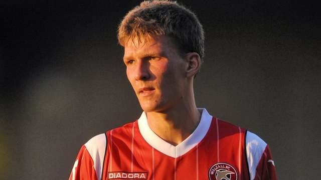 Walsall centre-half Paul Downing
