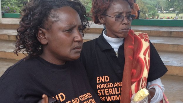 Women at protest in Nairobi on 10 December 2014