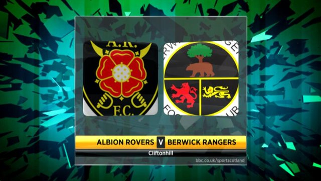 Highlights - Albion Rovers 0-1 Berwick Rangers