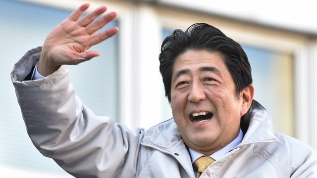 Prime Minister and ruling Liberal Democratic Party (LDP) leader Shinzo Abe