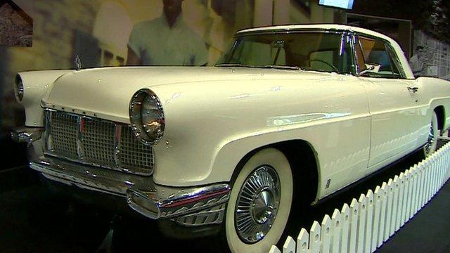 Elvis car on display in London