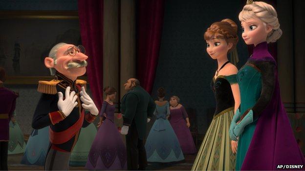 Scene from Disney's Frozen