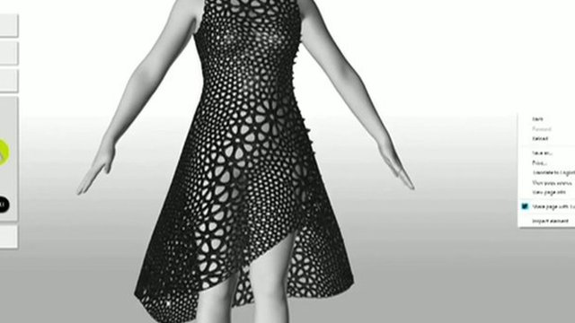 A 3D printed dress