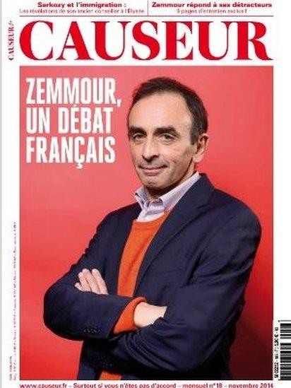 Screen grab of Causeur magazine