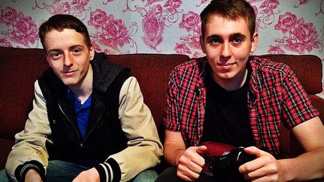 Matt (L) has stopped gaming online because of the abuse he received