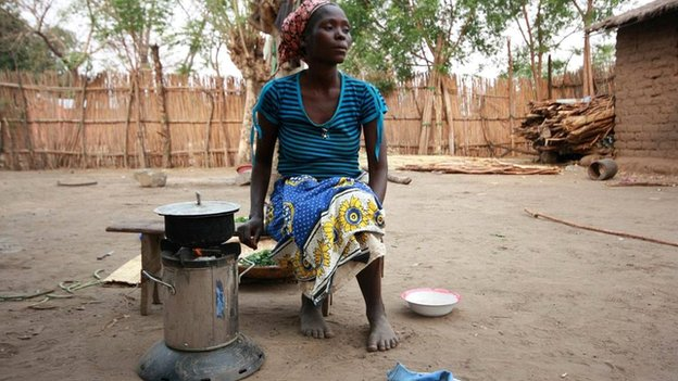 Woman with cookstove (c) Victoria Gill