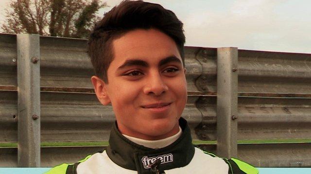 World Karting Champion Enaam Ahmed hopes to eventually eclipse Lewis Hamilton