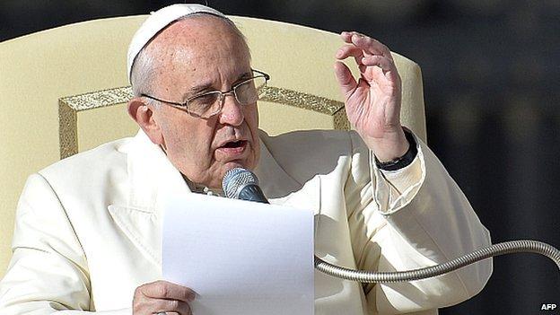 Pope Francis. 10 Dec 2014
