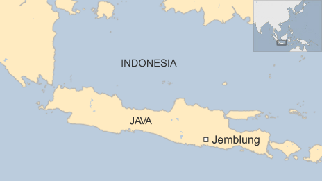 A map showing the village of Jemblung
