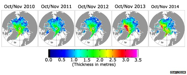 Autumn sea-ice thickness