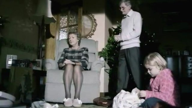 Scene from an anti-domestic abuse TV advert