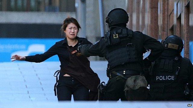 Woman runs from siege