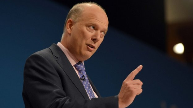 Chris Grayling at the Conservative Party Annual Conference 2014
