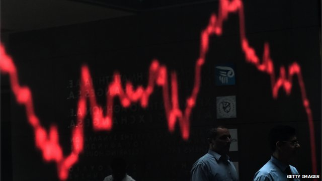 graph on Athens Stock Exchange