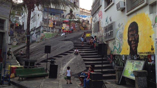 A street scene in Pedra do Sal