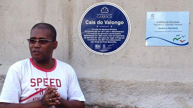 Claudio Honorato at Valongo Wharf