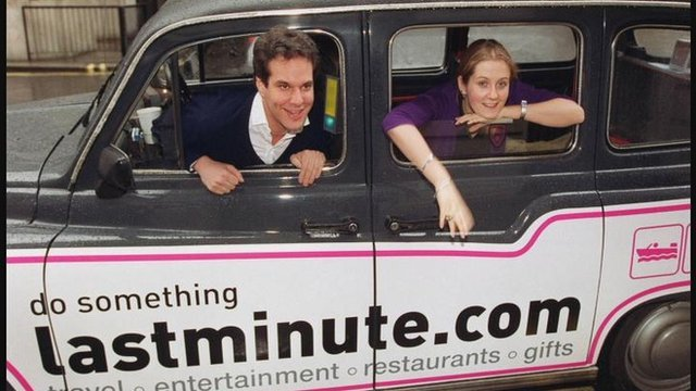 Lastminute.com founders in taxi