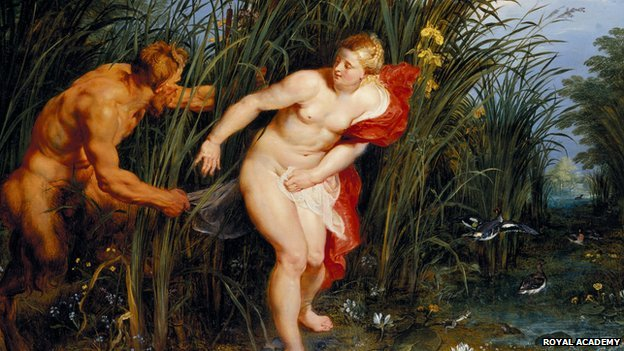 Rubens 1617 oil on panel Pan and Syrinx