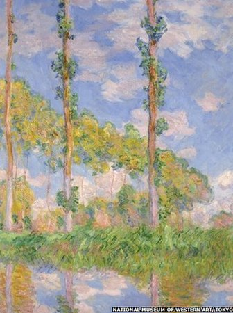 Claude Monet, Poplars in the Sun, 1891