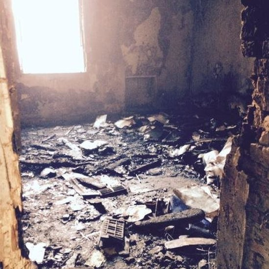 Principal's office after suicide bomb attack on 17 December 2014