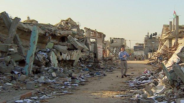 Steffan Messenger yn Gaza
