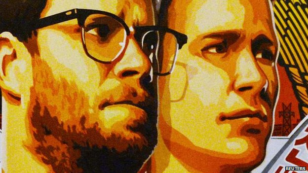 Seth Rogen and James Franco on the poster for The Interview.