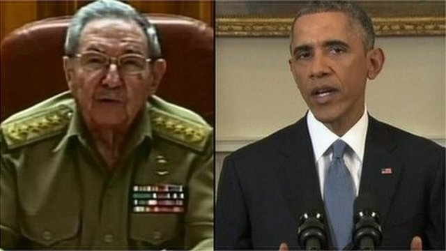 Raul Castro (left) and Barack Obama