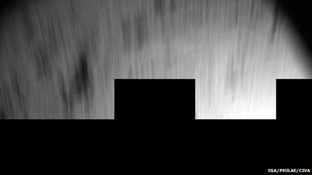 Blur of landing