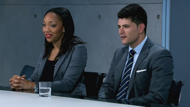 Bianca Miller and Mark Wright in the Apprentice