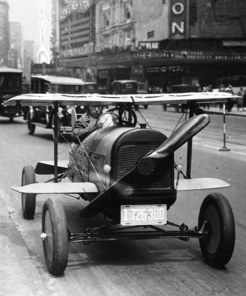1924 flying car driving through Times Square, New York whatever happened to the future? Whatever happened to the future?  79812862 2669649