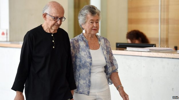 "Lois (R) and Juris Greste, parents of Australian journalists Peter Greste, arrive at a press conference to appeal to Egypt""s President Abdel Fattah al-Sisi for their son's release, in Brisbane, Australia, 21 November 2014"