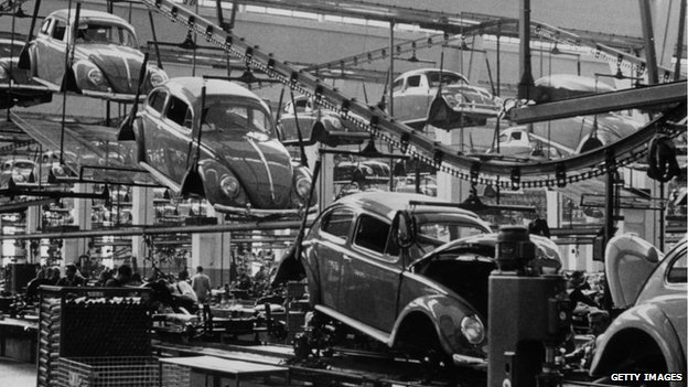 VW Beetle factory 1956 whatever happened to the future? Whatever happened to the future?  79825211 vwfactory1956