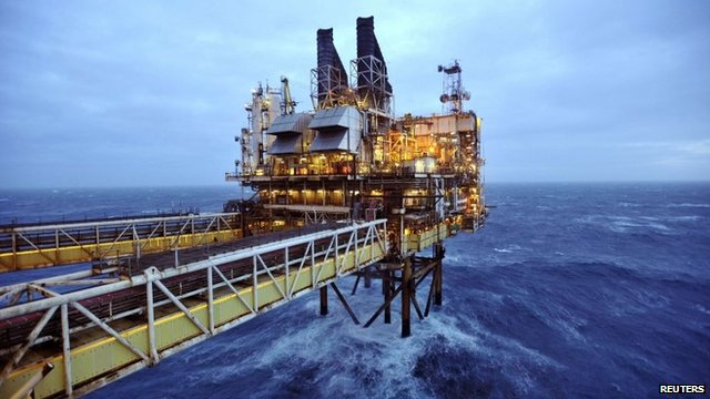 Oil platform section in the North Sea, around 100 miles east of Aberdeen