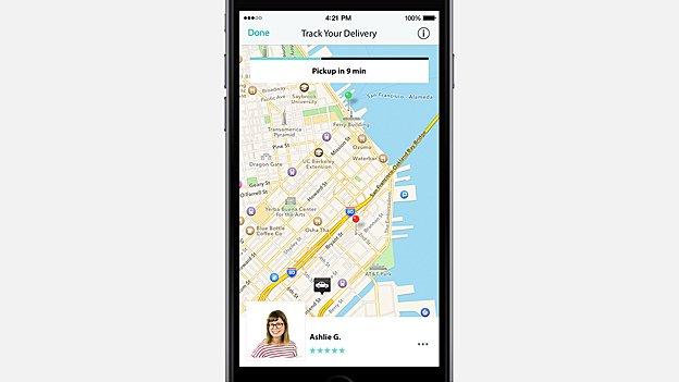 Postmates app screenshot