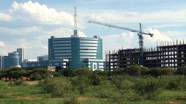 Contruction work in Gaborone