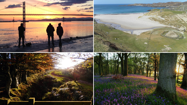 South Queensferry, Isle of Lewis, Kinclaven Woods and Eildon Hills